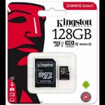 Card de memorie Kingston microSDXC Canvas Select 80R 128GB Clasa 10 UHS-I U1 80 Mbs cu adaptor SD