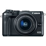 Aparat foto Mirrorless Canon EOS M6 24 Mpx Kit EF-M 15-45mm IS STM Black