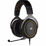 Casti gaming Corsair HS60 PRO, surround 7.1, Galben