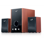 "BOXE 2.1 GENIUS ""SW-HF2.1 1700"", RMS: 8Wx2 + 29Wx1, cherry wood ""31731037100"" (include timbru verde 1 leu)"