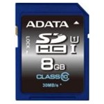 Card de memorie ADATA SDHC Ultra-High Speed 8GB Clasa 10 asdh8guicl10-r