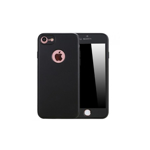 Husa iPhone 7 Flippy Full Cover Silicon - Negru