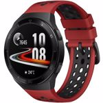 "Smartwatch Huawei Watch GT 2e, Procesor Kirin A1, Display AMOLED 1.39"", 16MB RAM, 4GB Flash, Bluetooth, GPS, Carcasa Otel, Bratara Fluoroelastomer 46mm, Rezistent la apa, Android/iOS (Negru/Rosu)"
