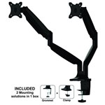 Suport monitor NewStar NeoMounts Flat Screen Desk mount (10-32'')desk clamp/gromme NM-D750DBLAC