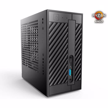 Mini PC Barebone ASRock DeskMini A300, AMD AM4, 2x DDR4 64GB max, M.2 SSD, HDD 2.5 inch, HDMI, DisplayPort