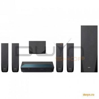 Sistem Home Cinema Sony BDV-E2100, 5.1 CH, Full HD 3D, Blu-Ray player, RMS 1000W, 4 x boxe sateliti,