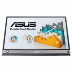 """Monitor portabil LCD IPS ASUS ZenScreen Touch MB16AMT, 15.6"""", 60Hz, Full HD, Touch screen, Flicker free, gri inchis"""