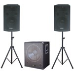KIT SUBWOOFER 15 inch+2 SATELITI 12inch+2 STAND BOXA
