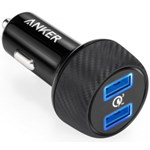 Incarcator auto Anker PowerDrive Speed 2 Qualcomm Quick Charge 3.0, 2xUSB, Negru