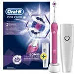 Periuta electrica ORAL-B PRO 2500 Pink 3D White + Travel case