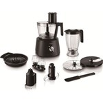 Robot de bucatarie PHILIPS Avance Collection HR7776/90, 1300W, bol 2.4 l, blender 1.5 l, 12 viteze + Pulse, Negru