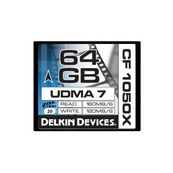 Delkin CF 64GB 1050X Cinema - card memorie UDMA 7