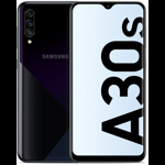 Smartphone Samsung Galaxy A30S (2019), sAMOLED, Infinity-V, Octa Core, 64GB, 4GB RAM, Dual SIM, 4G, 4-Camere, Baterie 4000 mAh, Fast Charge, Black