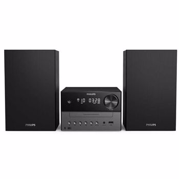 Micro Sistem Audio Philips TAM3505/12, Bluetooth, CD, USB, DAB+, FM, 18 W (Negru)