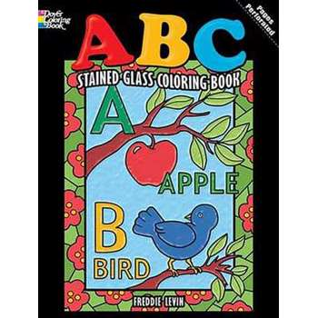 ABC Stained Glass Coloring Book (Dover Coloring Books)