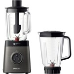Blender Philips Avance Collection HR365790 1400W 2L Tehnologie ProBlent 6 3D Negru-Gri HR3657/90