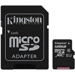 Card de memorie Kingston MicroSDXC, 128GB, Class 10 + Adaptor