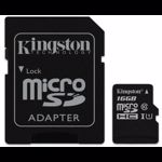 Card de memorie Kingston MicroSDHC, 16GB, Class 10 + Adaptor
