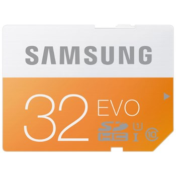 Samsung 32 GB Evo MicroSDHC UHS-I Grade 1 Class 10 Memory Card with SD Adapter (Standard Packaging) - Orange/White