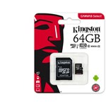 Card memorie Kingston Canvas Select 80R 64GB MicroSDXC Clasa 10 UHS-I + adaptor SD