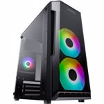 Carcasa AQIRYS Bellatrix Rainbow 3 Ventilatoare incluse Micro ATX Mini-Tower Fara sursa Black
