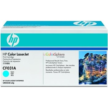 HP CF031A Toner Cartridge Cyan, Works with: HP LaserJet Colour CF031A