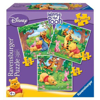 Puzzle winnie the pooh 3 buc in cutie 253649 piese