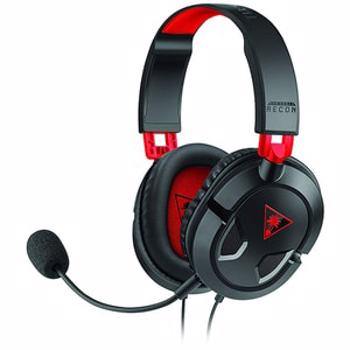 Casti Gaming TURTLE BEACH Recon 50, multiplatforma, 3.5mm, negru-rosu