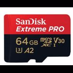 Card de memorie SanDisk Micro SDXC Extreme Pro, 64 GB, UHS-I U3, adaptor SD, 100 MB/s