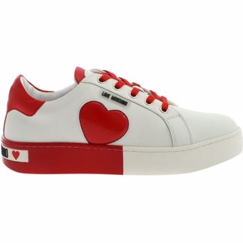 LOVE Moschino Bicolor Sneakers In White And Red With Logo Culoarea White