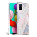 Husa Spate Tech-protect Marble Silicone Samsung Galaxy A71 Roz