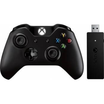Controller Wireless Microsoft Xbox One + adaptor pentru PC