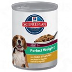 Hill's SP Canine Adult Perfect Weight cu Pui si Legume, 363 g