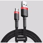 Cable Baseus cafule CAMKLF-C91 (USB M - Micro USB M; 2m; black and red color)