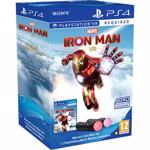 Controller SONY PlayStation Move V4.0 Twin Pack, negru + Marvel's Iron Man (PS4/PSVR)