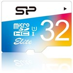 Card de Memorie Silicon Power Elite MicroSDHC Colorful 32GB UHS-1 85MBs + Adaptor sp032gbsthbu1v20sp