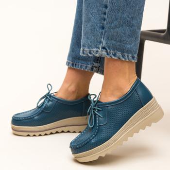 Pantofi Casual Torino Albastri