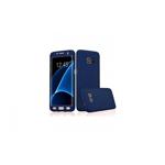 Husa 360 grade cu folie plastic inclusa, Samsung Galaxy S7 Edge, albastru