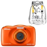 Aparat Foto Digital NIKON Coolpix W150, 13.2MP, Zoom Optic 3x, Wi-Fi cu rucsac (Portocaliu)