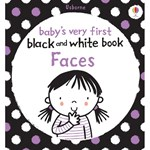 Babys very first black and white - Faces - Carte Usborne (0+)