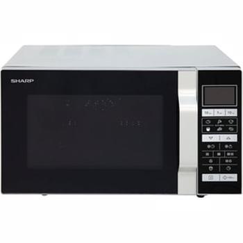 Cuptor microunde cu grill SHARP R-860S, 25l, 900W, argintiu - negru