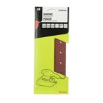 Set 6 foi abrazive dreptunghiulare Auchan 115 x 280mm cu diverse granulatii