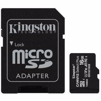 MICRO SD KINGSTON 16GB SELECT PLUS CLASA 10 UHS SDCS2/16GB