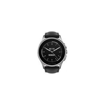 Smart Watch Vector Luna 44mm Argintiu Curea Piele Neagra l1-10-016