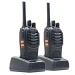 Statie radio UHF portabila PNI PMR R20, set 2 buc + Incarcatoare + Casti