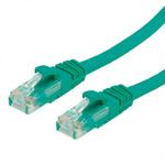 Cablu de retea RJ45 cat. 6A UTP 1m Verde, Value 21.99.1441
