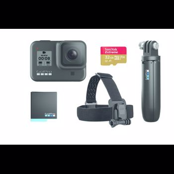 GoPro Hero 8 Black - Special Bundle Kit, Rezistent la apa, 4k60/1080p240