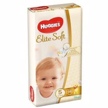 Scutece HUGGIES Elite Soft nr 5, Unisex, 12-22 kg, 56 buc