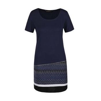 Rochie albastru inchis Desigual Meryan cu fir lurex