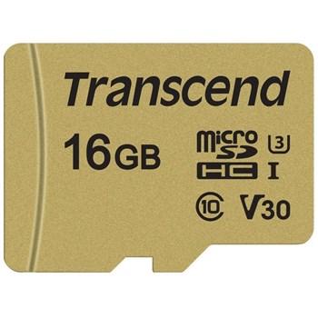 Card memorie Transcend microSDHC 16GB CL10 UHS-I U3 ts16gusd500s
